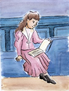 wc girl reading