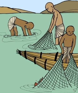 ancient Egyptian fishermen